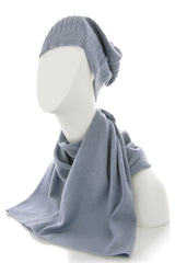 NEPAL Light Blue Cashmere Woman Scarf