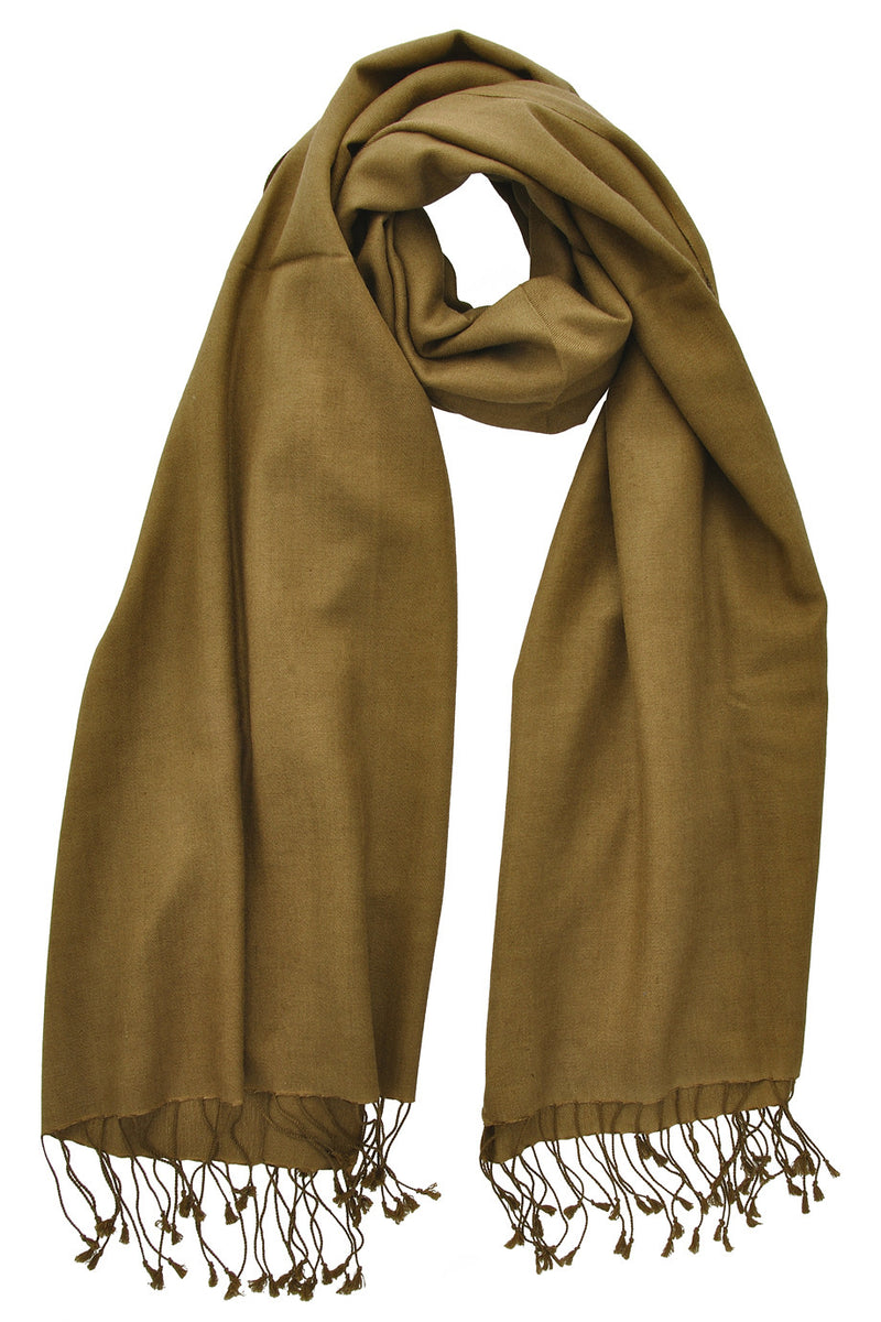 SHERPA Cashmere Dark Olive Woman Scarf