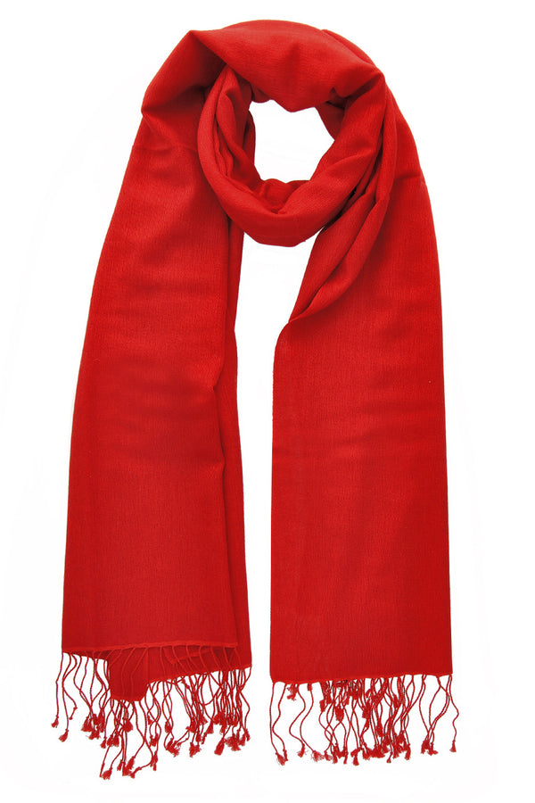 SHERPA Cashmere Fire Red Woman Scarf
