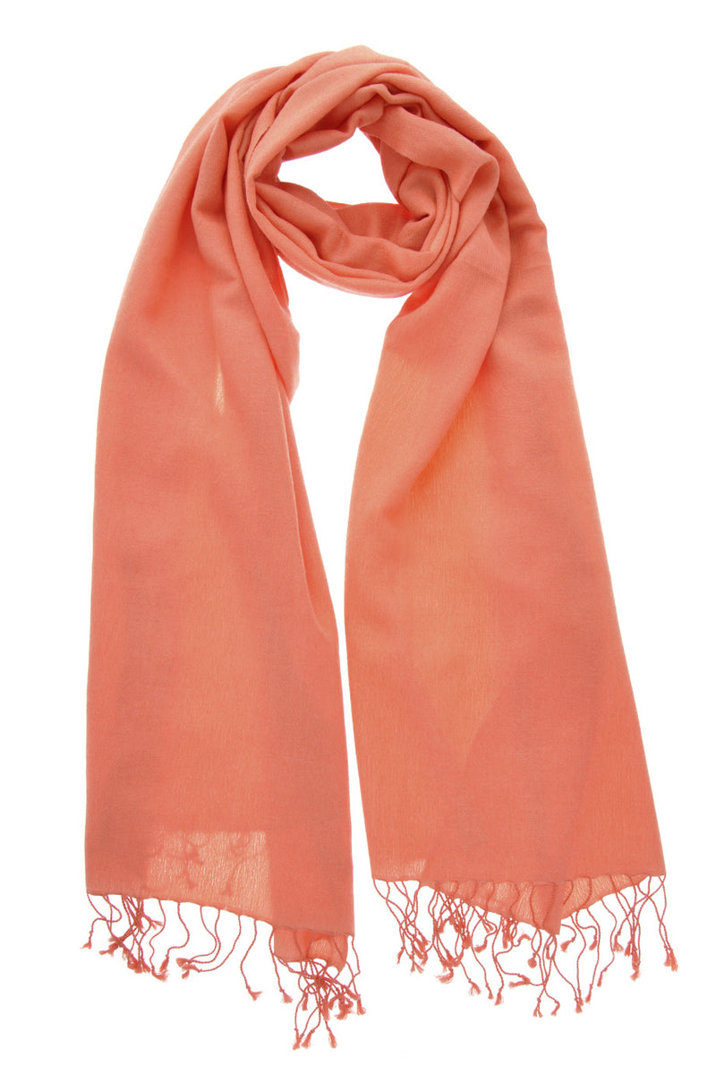 SHERPA Light Coral Cashmere Woman Scarf