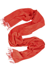 MAYA Viscose Dark Orange Woman Scarf