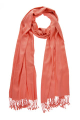 MAYA Viscose Rose Coral Woman Scarf