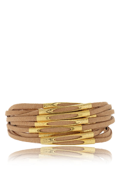 LOIS Brown Leather Strands Bracelet