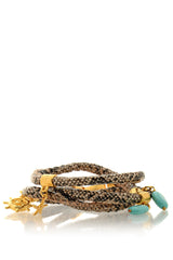 ZELIN Brown Snakeskin Charms Bracelet 10