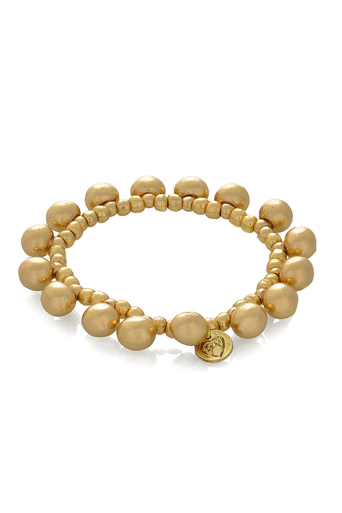 TOTEM Gold Beads Stretch Bracelet