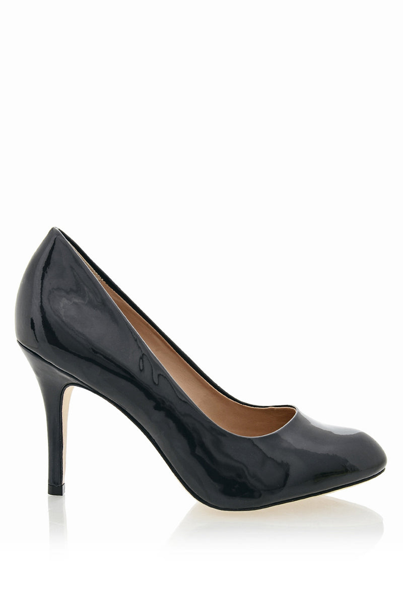 ALDITH Blue Black Patent Leather Pumps