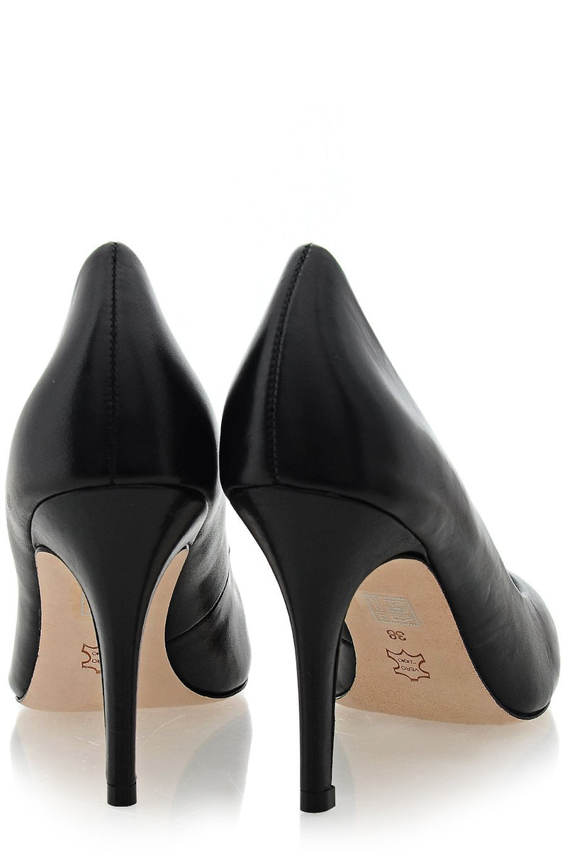 ALDITH Waxy Black Leather Pumps