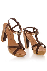 IRENE Brown Platform Sandals
