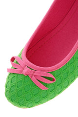 BRIGHT DUET Green Ballerinas