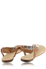 LIZ Metallic Brown Sandals