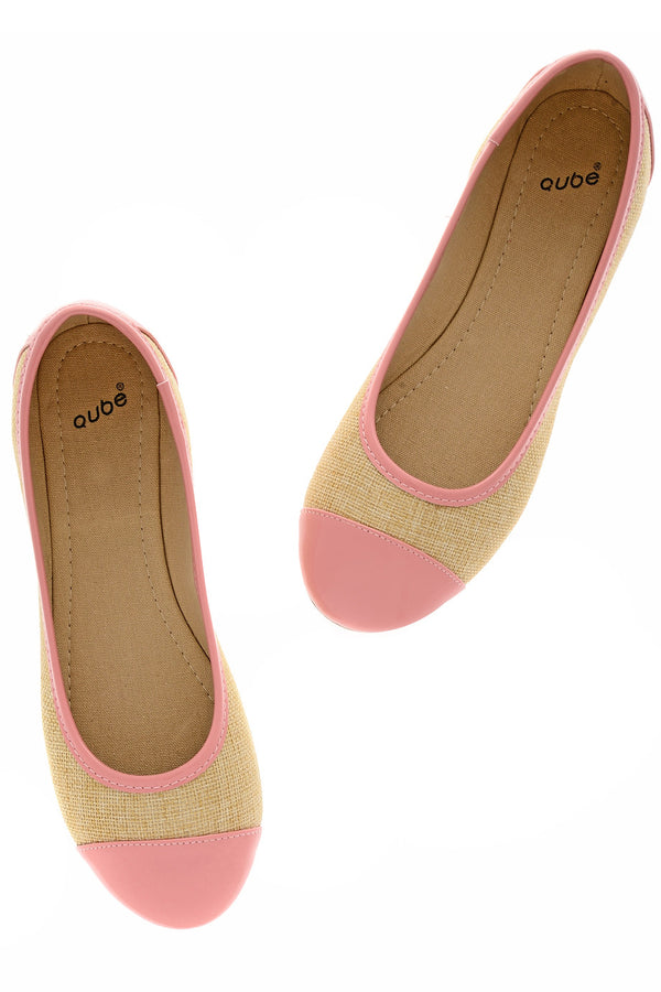 PATRICE Pink Capped Ballerinas
