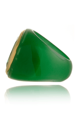 ISHARYA CANDY MIRROR Green Resin Ring thecultivar.com