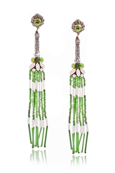 ALLEGRA Green Crystal Earrings