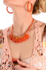 REGINA Orange Crystal Necklace