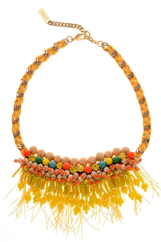 SALMA Yellow Pearl Necklace