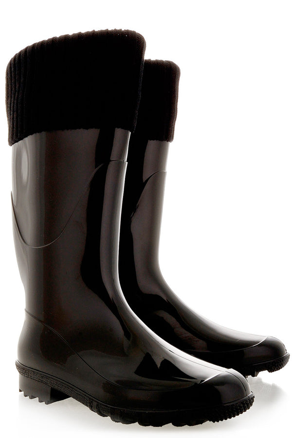 RAINDROPS - ALASKA Black Rubber Boots - Women Shoes