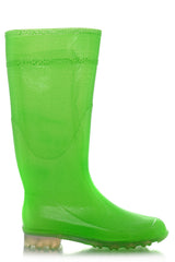AMABEL Green Fluo Rubber Boots