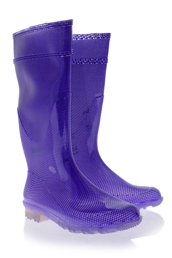 RAINDROPS AMABEL Purple Fluo Rubber Boots