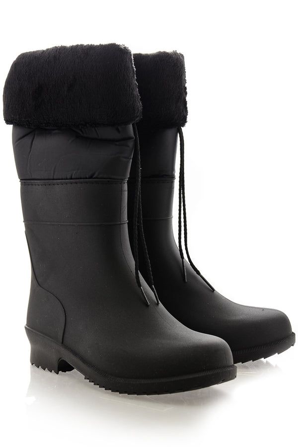 MOSCOW Black Rubber Snow Boots