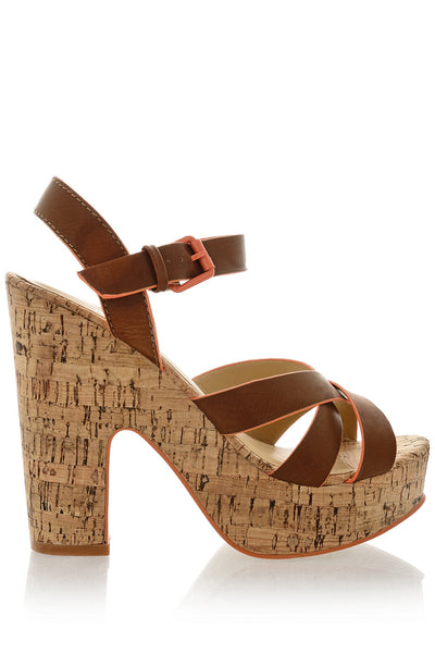 TERSINA Brown Sandals