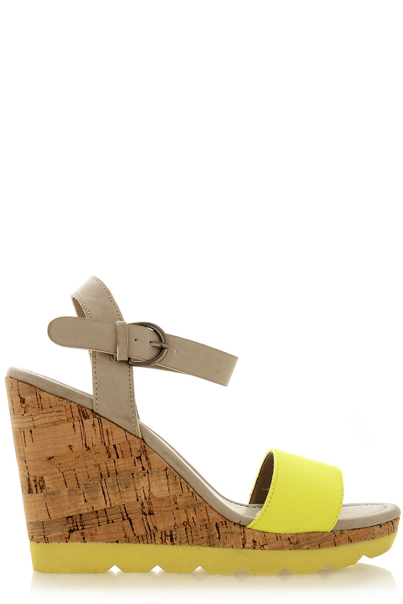 RASCAL HEDDIE Neon Yellow Wedges
