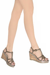 RASCAL JUNE Brown Cork Wedges