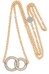 REBECCA ETERNITY Gold Plated Crystal Pendant