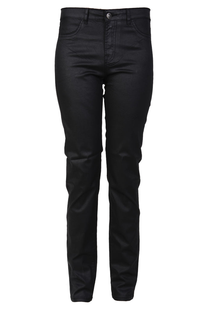 ADORA Black Waxed Skinny Pants