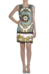 BAROQUE Turquoise Printed Dress