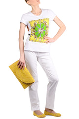 ETHNIQUE White Yellow Top