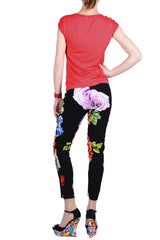 GRAND FLOWER Black Trousers