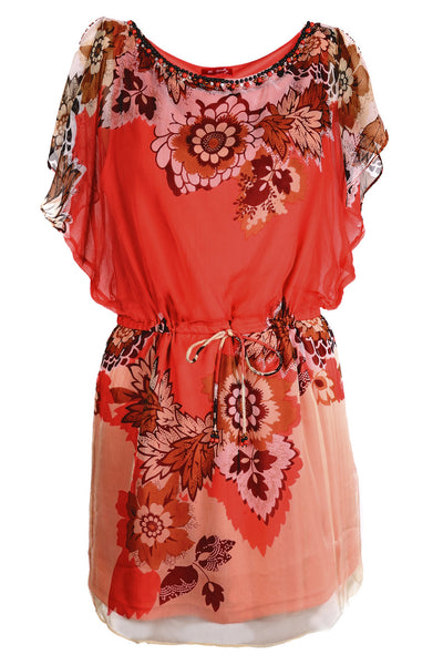 LESLEY Coral Printed Dress