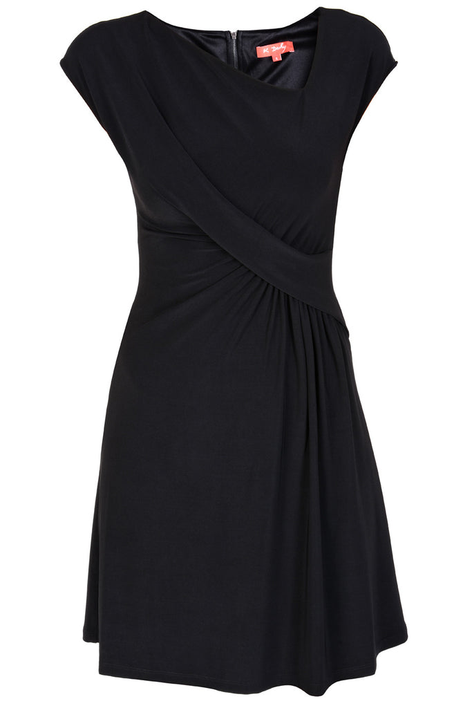 MARYANNE Black Wrap Dress