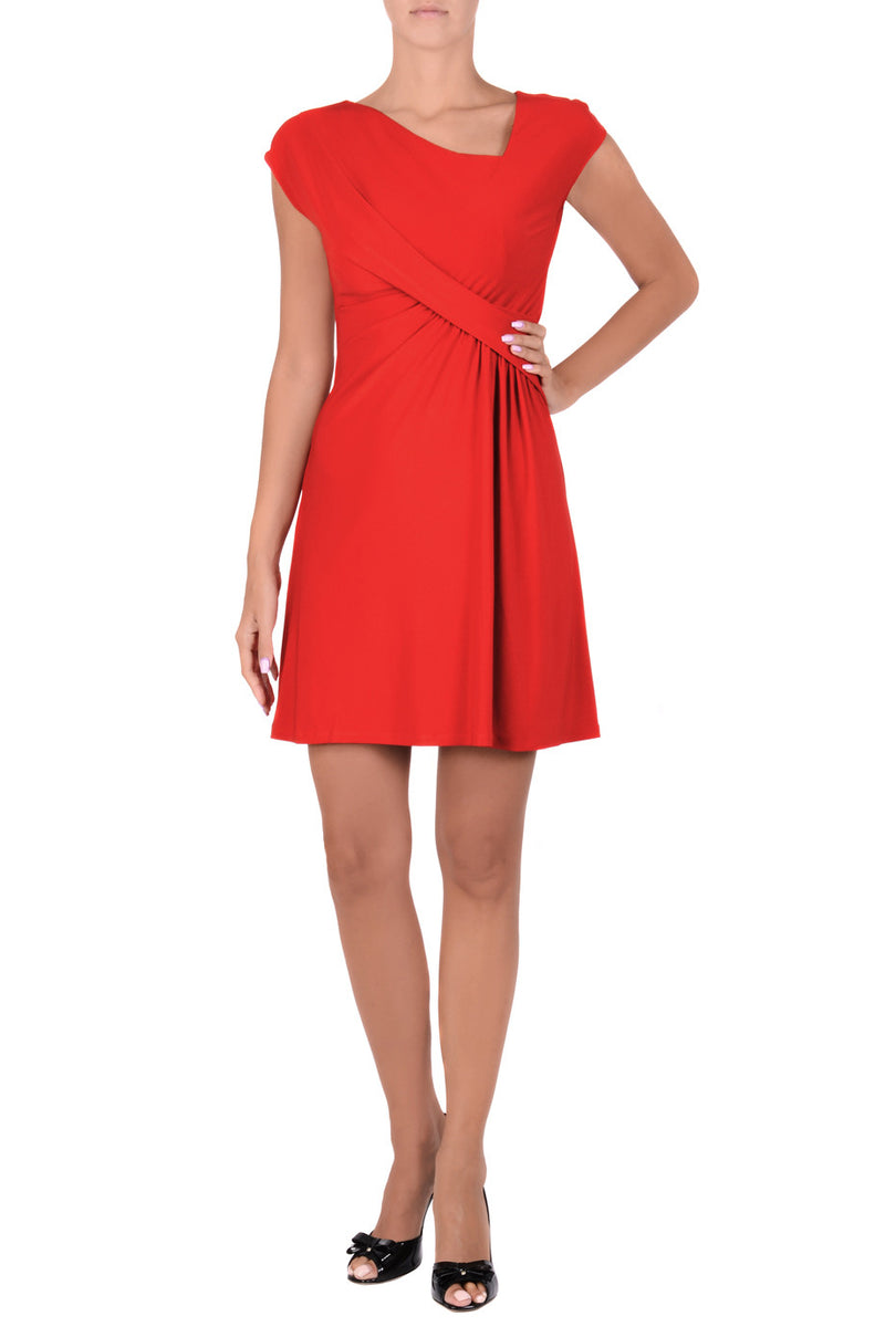 MARYANNE Red Wrap Dress