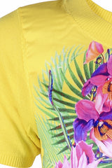 ORCHIDS Yellow Printed Top