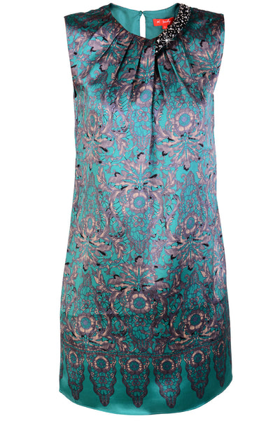 RENÉ DERHY OXFORD Green Silk Mini Dress