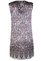 RENÉ DERHY OXFORD Grey Silk Mini Dress