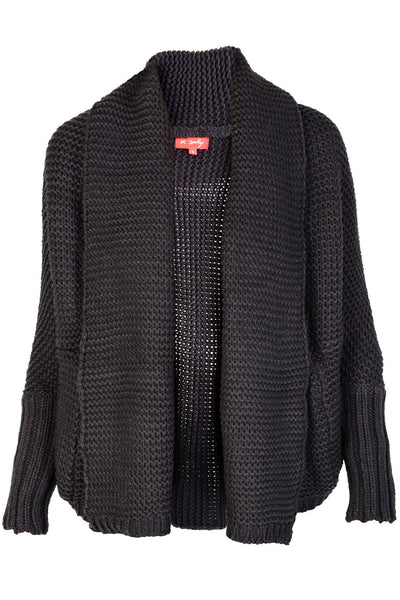 SHANTI Dark Grey Wool Cardigan