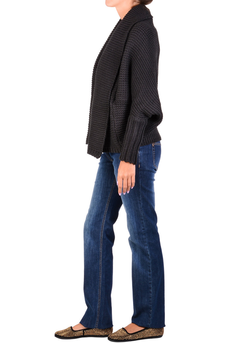 SHANTI Brown Wool Cardigan