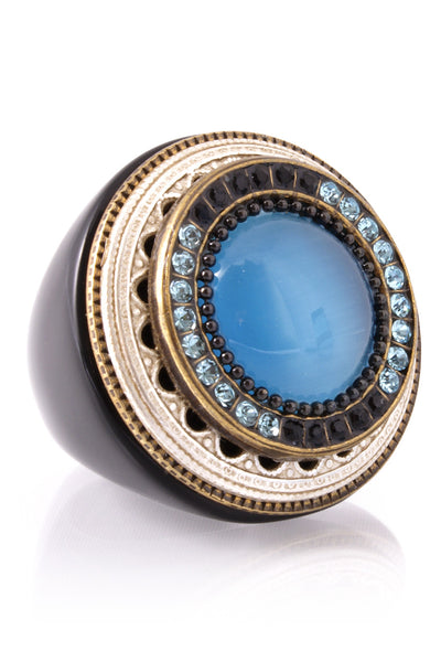 DALIA Blue Crystal Cocktail Ring