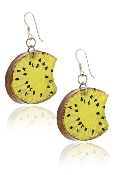 RIGÓ KIWI Green Resin Earrings