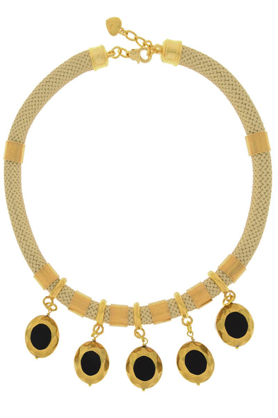 ANSELMA Gold Beige Necklace