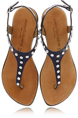 REBEKAH Blue Studded Sandals