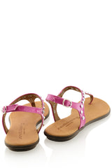 REBEKAH Fuchsia Studded Sandals