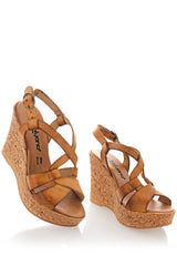 CUOIO Leather Wedges