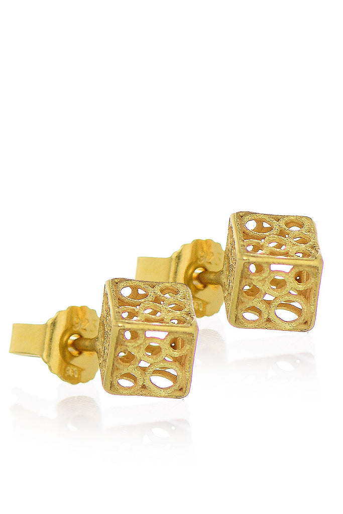SARINA - ABELIA Gold 3D Earrings - Jewelry