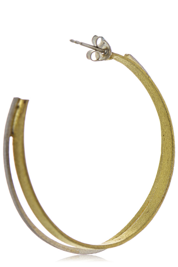 AMALIA Gold Silver Double Hoops