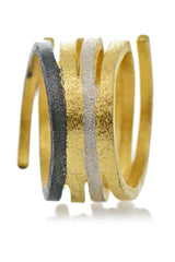 CRESTINA Gold Silver Ring