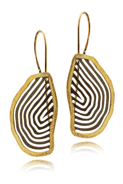 IXOS Gold Plated Sterling Silver Earrings