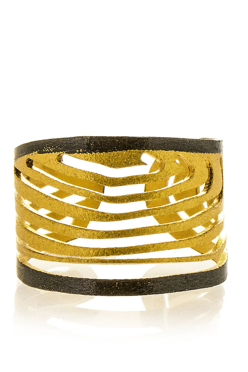 IXOS Gold Plated Sterling Silver Ring